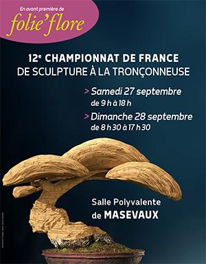 Affiche sculpture tronçonneuse