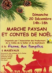 Marché paysan et contes de Noël