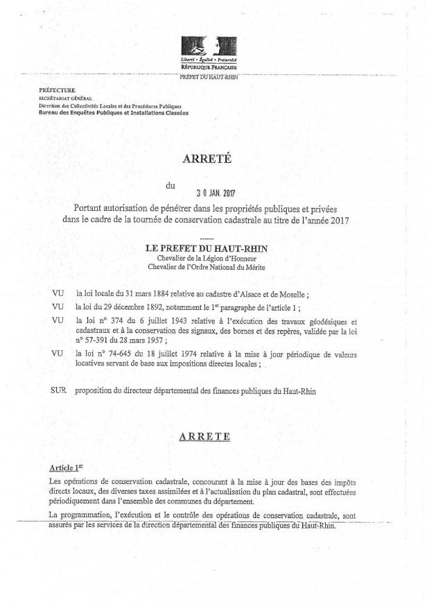 Info et arrêté mise à jour du cadastre 2017 (3)