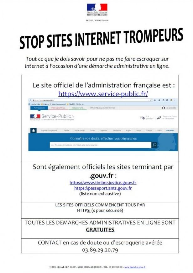 Site internet trompeurs bis