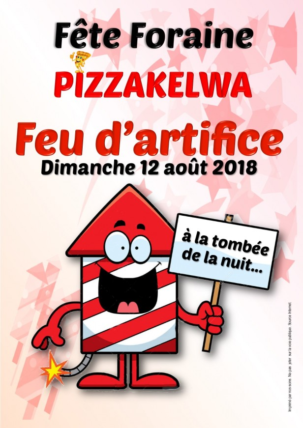 Feu d'artifice Pizzakelwa